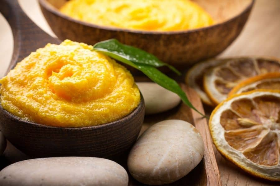 mango butter for hair in bowl