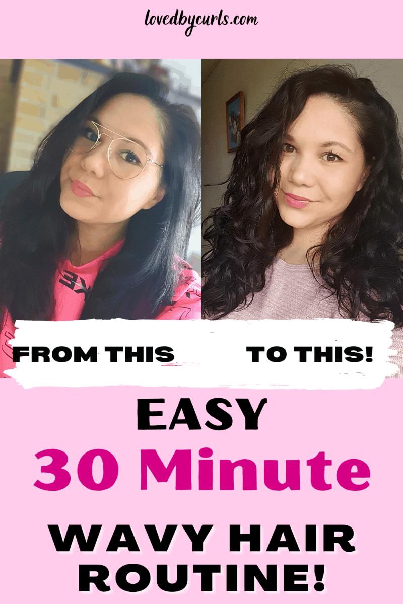 wavy hair routine for 2a 2b 2c hair