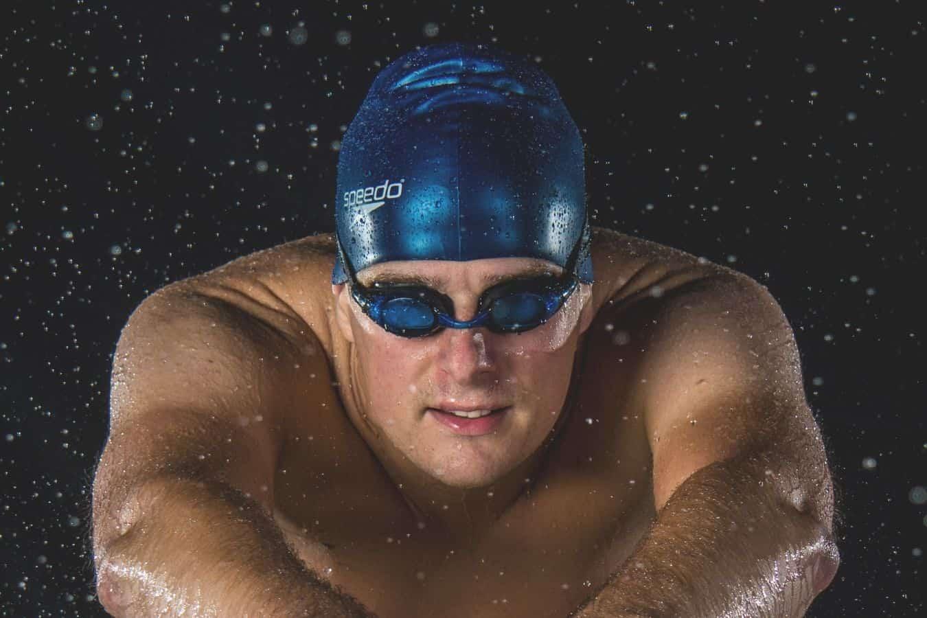 man swim cap