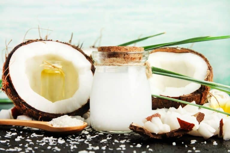 coconut oil before bleaching