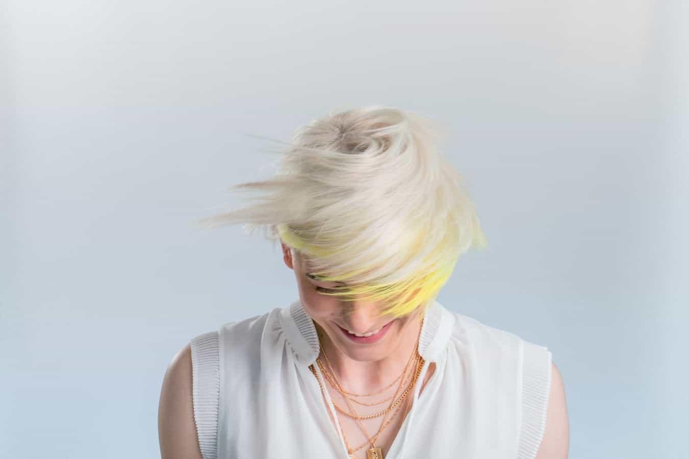lightening hair with just developer