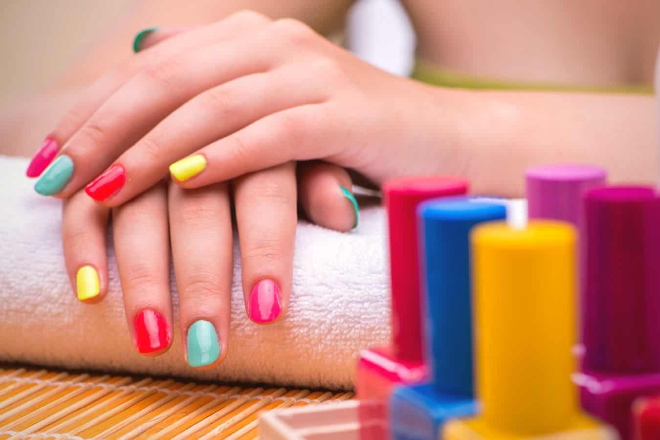 get hair dye off acrylic nails